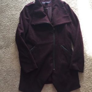 French Connection burgundy coat
